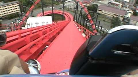 Eejanaika Roller Coaster POV - Fuji Q Highland Japan