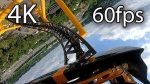 Exclusive - Steel Curtain front seat on-ride 4K POV @60fps Kennywood