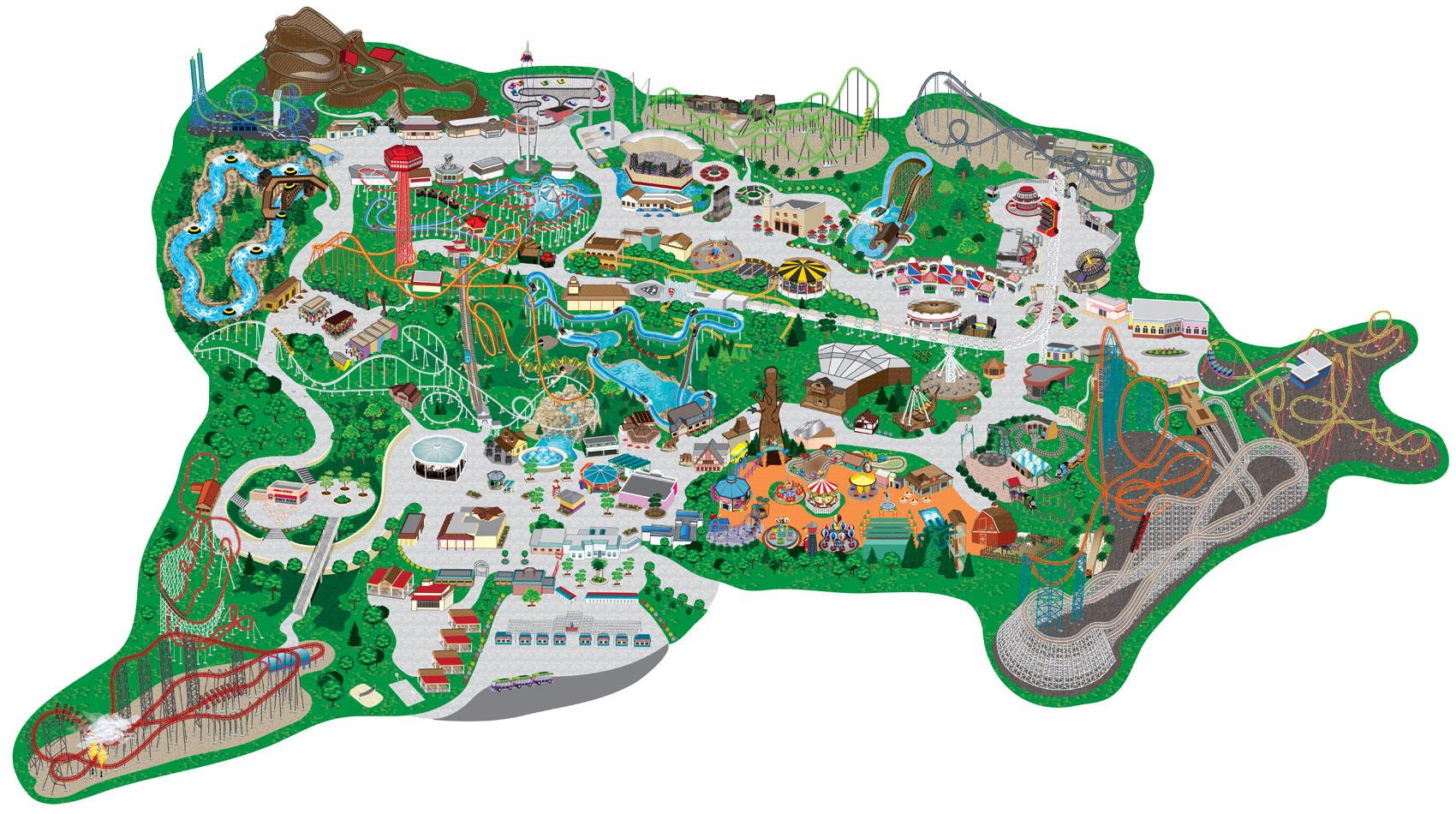 Map Of Six Flags Over Georgia Google Maps Manhattan Map Of Akron Ohio