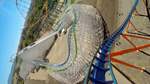 Scream front seat on-ride HD POV Six Flags Magic Mountain