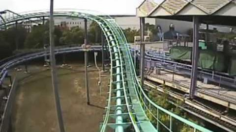 Boogie-woogie Space Coaster (Space World) - OnRide - (480p) - Backwards