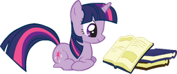FANMADE Twilight Sparkle reading a book
