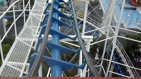Corkscrew (Nagashima Spa Land) - OnRide - (480p)