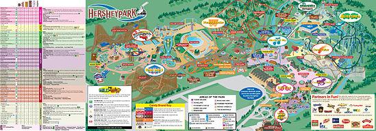 Hersheypark map