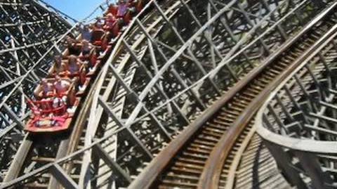 Lightning Racer (Thunder train) Front Seat on-ride POV Hersheypark