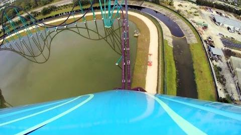 Mako testing front seat on-ride HD POV SeaWorld Orlando