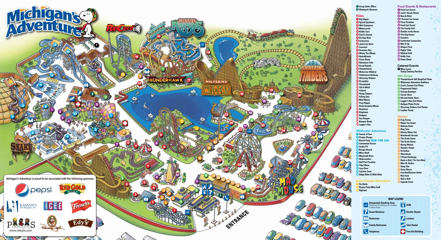 Michigan's Adventure | Roller Coaster Wiki | FANDOM powered by Wikia