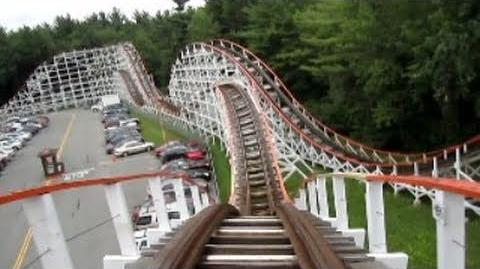 Yankee Cannonball Front Seat on-ride HD POV Canobie Lake Park