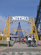 Nitro sign at Six Flags