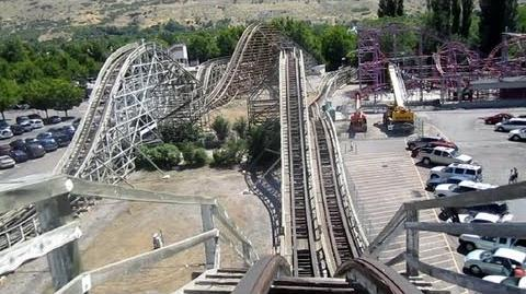 Roller Coaster front seat on-ride HD POV Lagoon