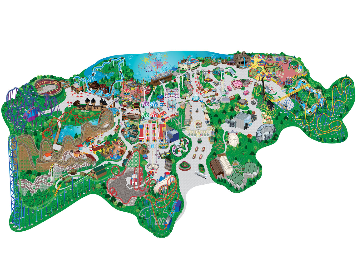Six Flags Great Adventure Map Png