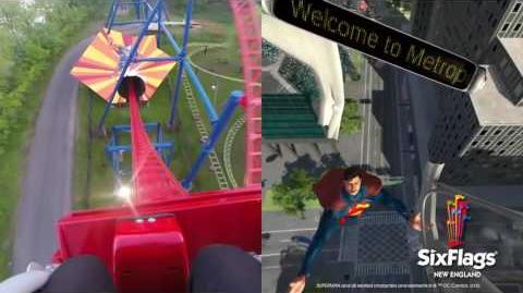 Superman The Ride Virtual Reality Coaster Split Screen