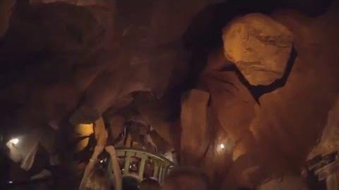 POV of Big Thunder Mountain Railroad Disneyworld at Night Ultra Low Light