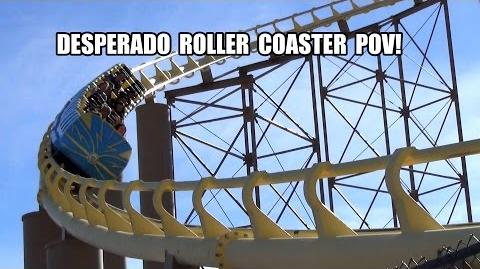 Desperado Roller Coaster POV Worlds Tallest in 1994 Buffalo Bills Nevada Las Vegas
