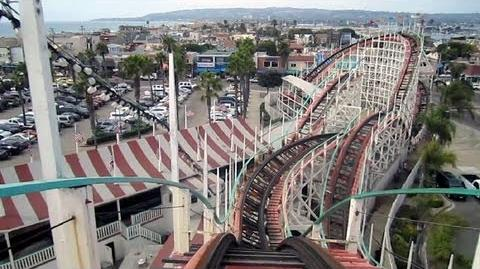 Giant Dipper front seat on-ride HD POV Belmont Park