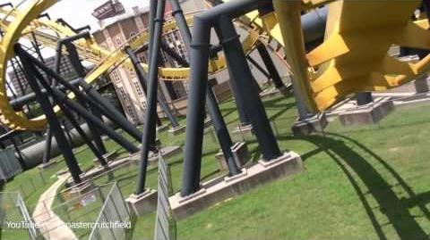 Batman The Ride (Six Flags Over Texas) - OnRide - (1080p)