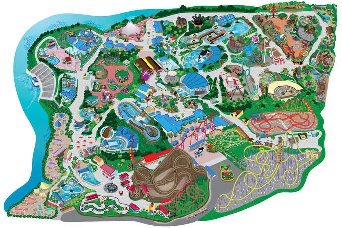 Six Flags Discovery Kingdom map