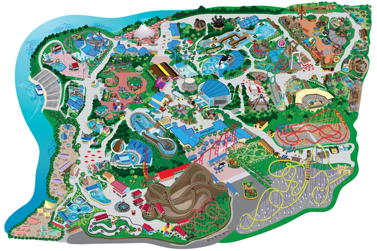 File - Six Flags Discovery Kingdom map.jpg | Roller Coaster Wiki ...