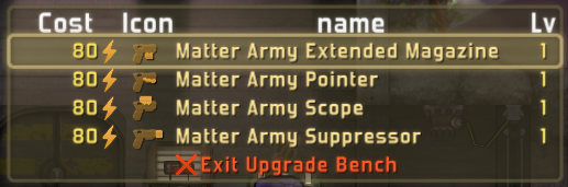 Matter Army Issue Upgrades