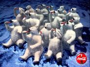 Polar bear northern lights