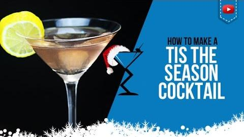Christmas Cocktails - Tis the Season Cocktail - How to make a Tis the Season Drink
