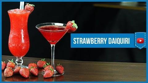 Strawberry Daiquiri Classic & Frozen - How to make Video Cocktail Recipe by Drink Lab (Popular)