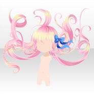 (Hairstyle) Fancy Alice Fluffy Braided Long Hair ver.A pink