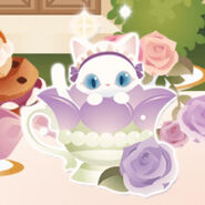 (Characters) Afternoon Tea - Magic Cup Cat Purple