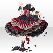 (Tops) Dancing Girl Frilled Dress Style ver.A black