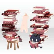 (Body Accessories) Piled Up Books and Familiar ver.A pink