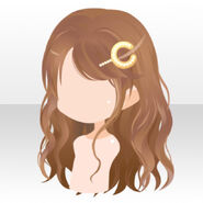 (Hairstyle) Coco Accessory on Wavy Hair ver.A brown