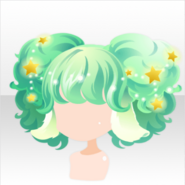 (Hairstyle) Aries Fluffy Twin Hair ver.A green