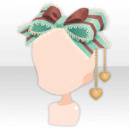 (Head Accessories) Chocolate Mint Ribbon Charm ver.A green