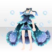 (Tops) Deep-Sea Romantic Fish Dress ver.A blue