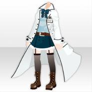 (Tops) Scope Girl White Coat Dress ver.A white