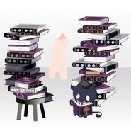 (Body Accessories) Piled Up Books and Familiar ver.A black