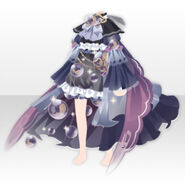 (Tops) Angelic Magical Feather Dress ver.A black