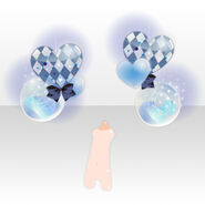 (Back Accessories) Dearest Heart Balloon ver.A blue