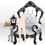 (Back Accessories) Undercore Wing Chair and Whisky ver.A white