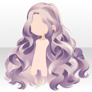 (Hairstyle) Perfume Wavy Long Hair ver.A purple
