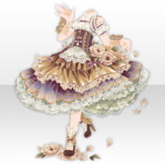 (Tops) Dancing Girl Frilled Dress Style ver.A brown