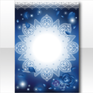 (Wallpaper Profile) Ghost Bride Flowers and Lace Wallpaper ver.A blue