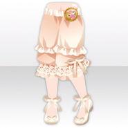 (Pant&Skirt) Ribbon Pumps & Tea Party Drawers ver.A white