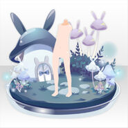 (Back Accessories) Champignon Vignette ver.A blue