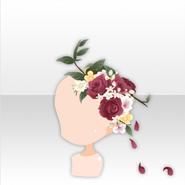 (Head Accessories) Secret Fleur Rose Hair Ornament ver.A red