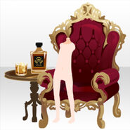 (Back Accessories) Undercore Wing Chair and Whisky ver.A red