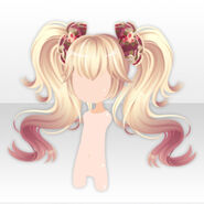 (Hairstyle) Royal Girl Big Bows on Twin Tails ver.A yellow