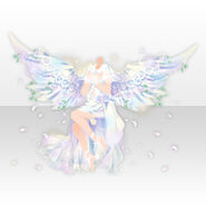 (Tops) Angel Wishes Making a Prayer ver.A white