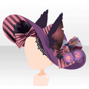(Head Accessories) Yourei Beast Ears on Witch Hat ver.A purple