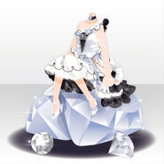 (Tops) Pure Crystal Lady Style ver.A white